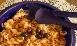 Pasta salad example. Royalty Free Stock Photography