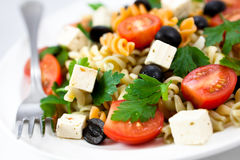 Pasta salad with feta cheese Royalty Free Stock Images