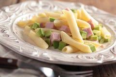 Pasta salad with ham Stock Photography