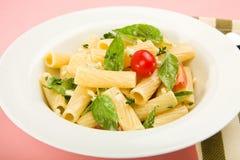 Pasta salad with herbs Stock Photos