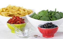 Pasta Salad Ingredients Royalty Free Stock Photography