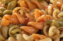 Pasta salad macro Stock Photography
