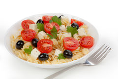 Pasta salad in the plate Royalty Free Stock Photo