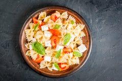 Pasta salad on plate Stock Photos