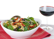 Pasta Salad With Red Wine Stock Photos
