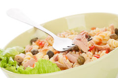 Pasta salad with tuna. Stock Photography