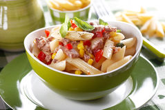 Pasta salad with tuna and corn Royalty Free Stock Images