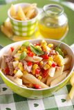 Pasta salad with tuna and corn Stock Image