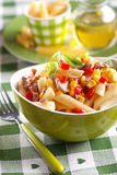 Pasta salad with tuna and corn Stock Images