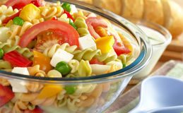 Pasta Salad with Vegetables Royalty Free Stock Photos