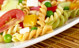 Pasta Salad with Vegetables Stock Images