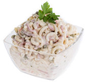 Pasta Salad (on white) Stock Image