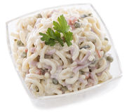 Pasta Salad (on white) Royalty Free Stock Image