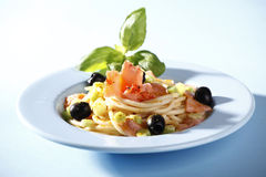 Pasta with salmon Stock Images
