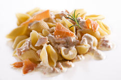 Pasta salmon Royalty Free Stock Photos