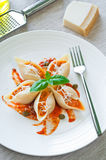 Pasta with salmon Stock Photo