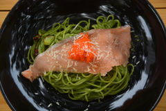 Pasta with salmon and cheese Royalty Free Stock Photography