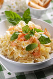 Pasta with salmon royalty free stock photo