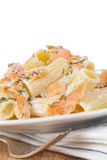 Pasta with salmon. Royalty Free Stock Photos