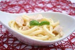 Pasta with salmon fish Royalty Free Stock Photos