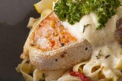 Pasta salmon Royalty Free Stock Images