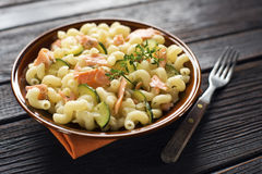 Pasta with salmon Stock Image