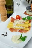 Pasta cheese cream Stock Photography