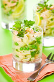 Pasta And Salmon Salad Royalty Free Stock Images
