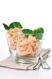 Pasta with salmon and spinach Stock Images