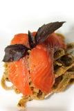 Pasta salmon Royalty Free Stock Photo