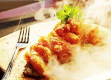 Pasta saporita fumosa recentemente cucinata immagine stock libera da diritti