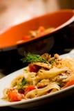 Pasta with Sardines Stock Image