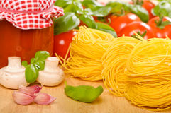 Pasta & Sauce Royalty Free Stock Photo