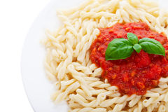 Pasta and sauce Royalty Free Stock Photography