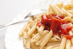 Pasta With Sauce Royalty Free Stock Images