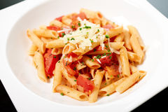 Pasta with sauce Stock Photography