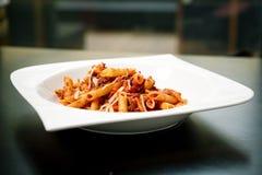 Pasta with sauce Royalty Free Stock Photos