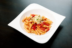 Pasta with sauce Royalty Free Stock Photography