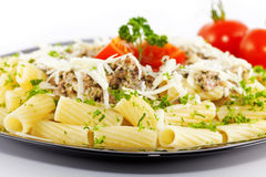 Pasta with sauce Royalty Free Stock Photo