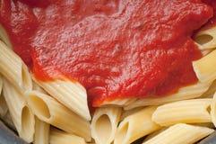 Pasta with Sauce Stock Photos