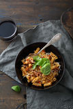 Pasta with sauce in bowl Stock Photos