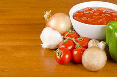 Pasta Sauce Ingredients Stock Images