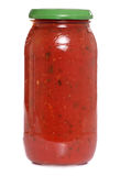 Pasta sauce in a jar Stock Photos