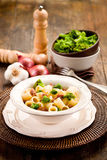 Pasta with sausage and broccoli Royalty Free Stock Photos