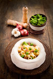 Pasta with sausage and broccoli Royalty Free Stock Images