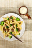 Pasta with sausage and broccoli. Delicious pasta with sausage and broccoli Stock Images
