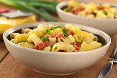 Pasta with Sausage and Cheese Royalty Free Stock Photo