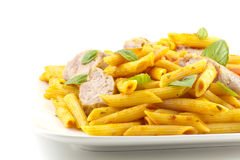 Pasta Sausage Peppers Stock Photo
