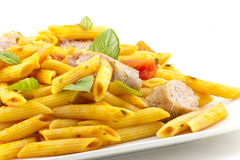 Pasta Sausage Peppers Royalty Free Stock Photo
