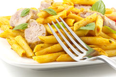 Pasta Sausage Peppers Royalty Free Stock Image